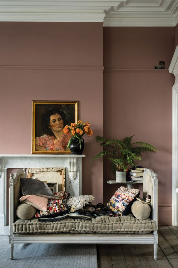 sulking room pink by farrow and ball on the happy list