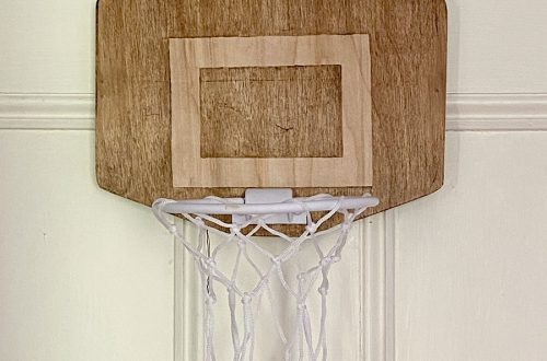 Over-the-Door Basketball Hoop with Wood Backboard