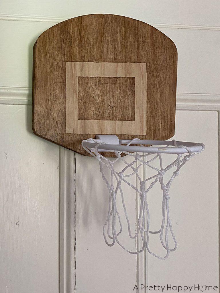 Over-the-Door Basketball Hoop with Wood Backboard