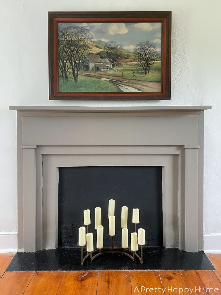 Grey Fireplace Mantel