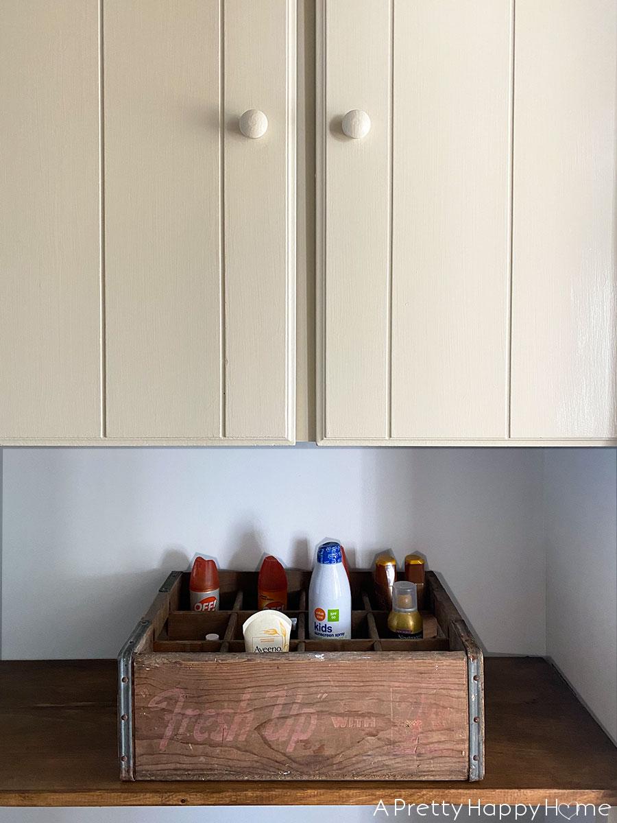 Built In Hallway Shelves