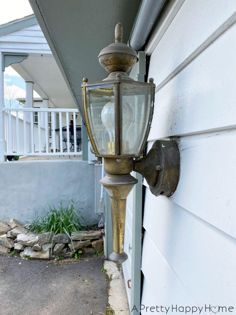 outdoor update garage light before