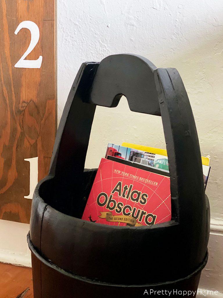 well bucket book holder