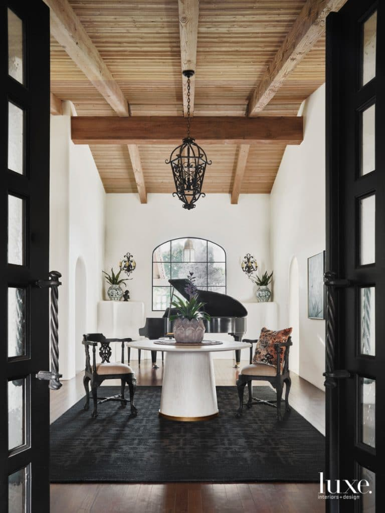 piano room in Arizona via luxe daily on the happy list