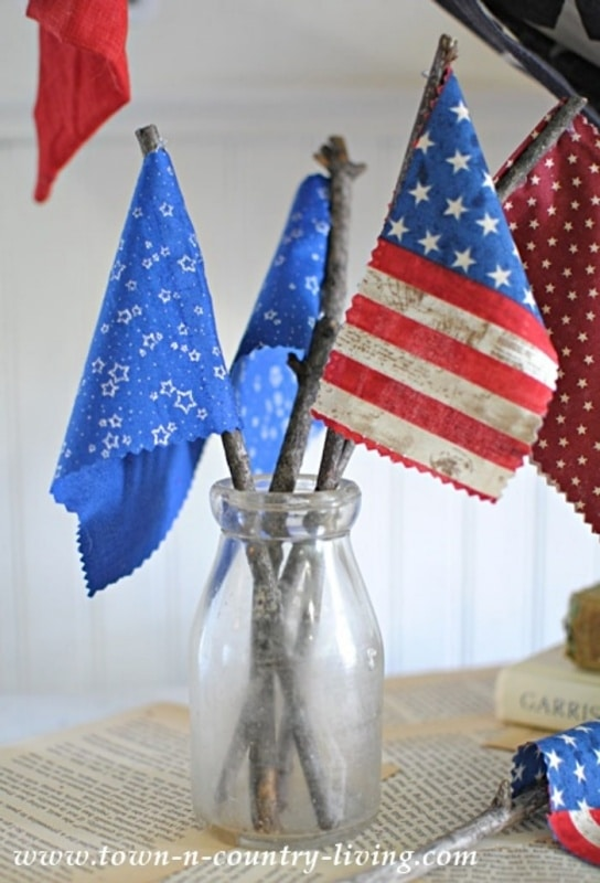diy fabric flags from town and country living on the happy list