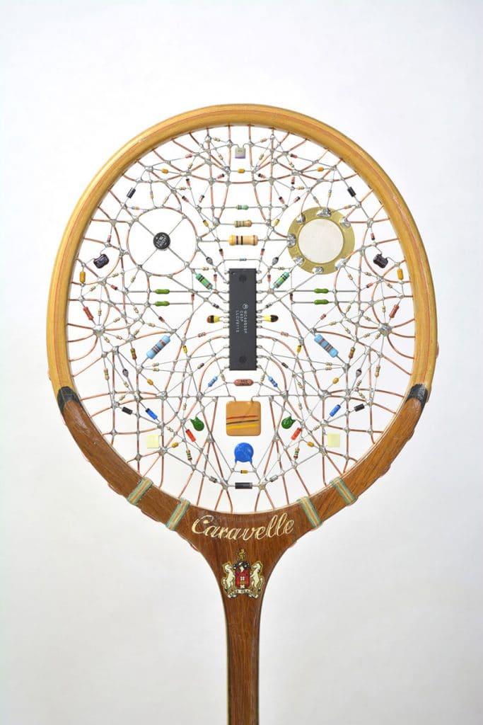 Leonardo Ulian tennis racket art via this is colossal on the happy list