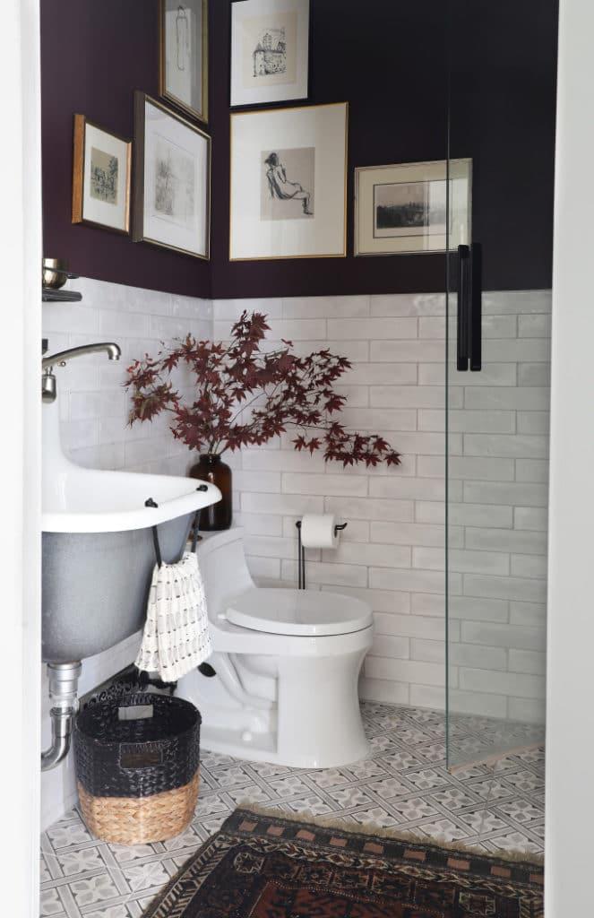 eggplant bathroom by I Spy DIY on the happy list