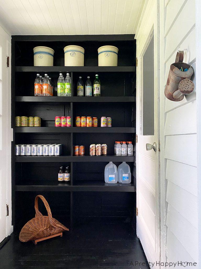 back porch shelves ceramic crocks found decor