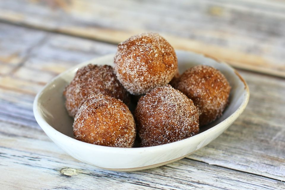 pumpkin fritters via spruce eats photo by diana rattray on the happy list