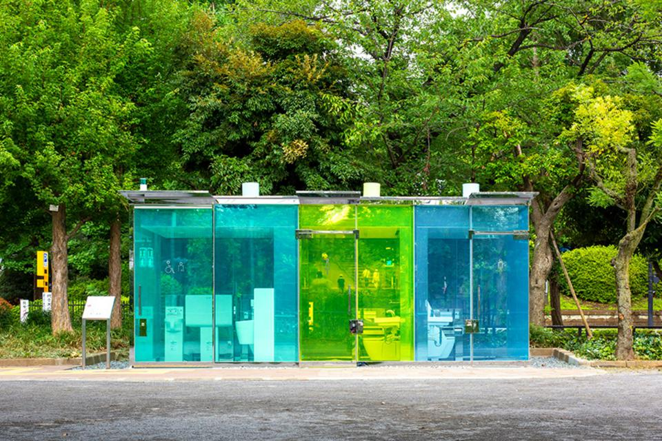 transparent toilet japan via forbes on the happy list