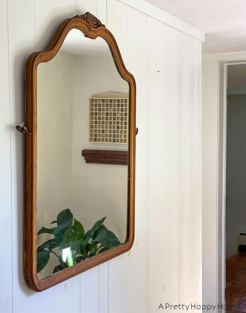 mirror makeovers arched wood mirror makeover using citristrip