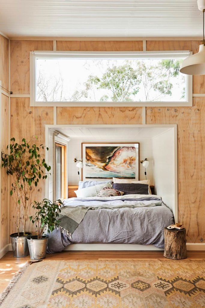 plywood wall via homes to love photo by nikole ramsay on the happy list