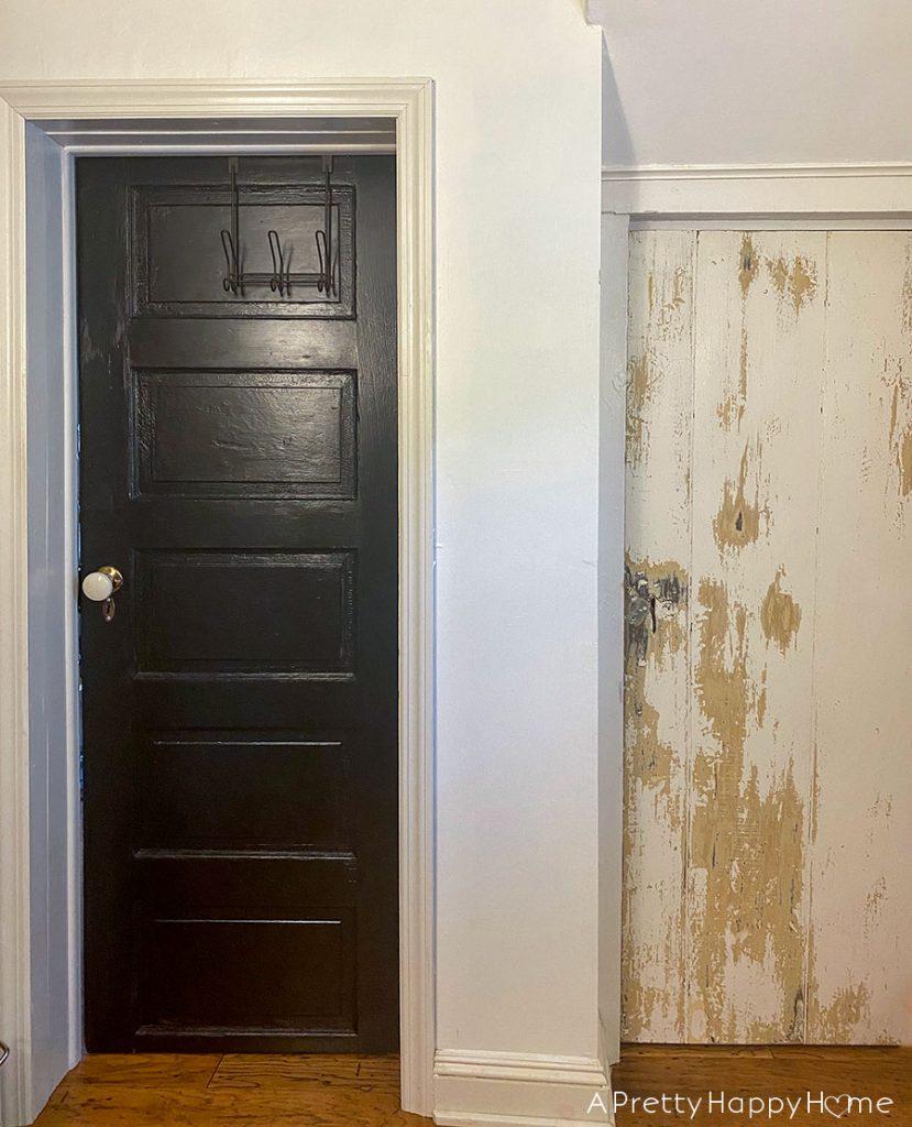 new old closet door bathroom