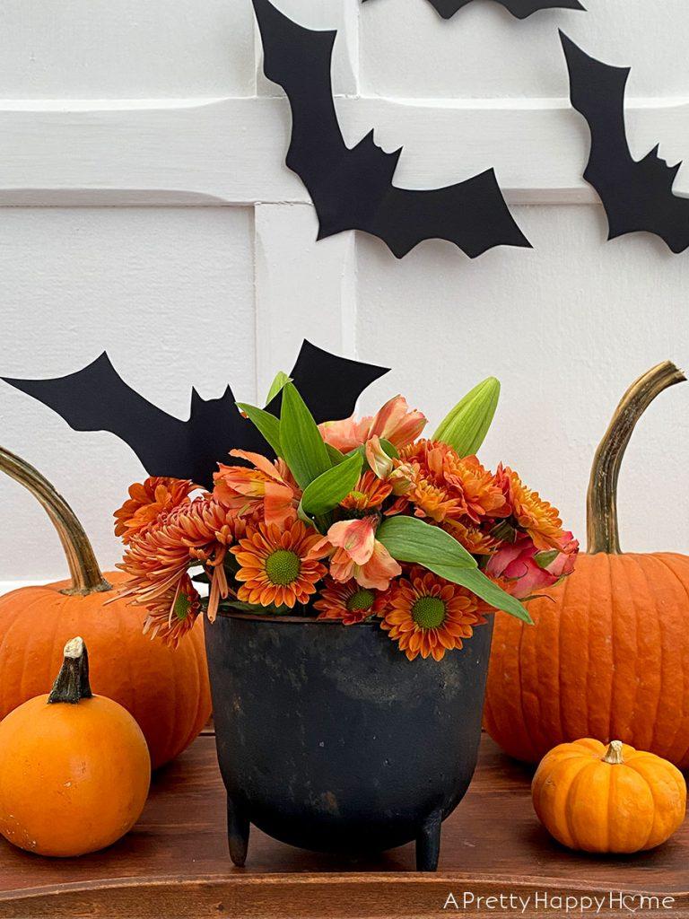 halloween cauldron centerpiece