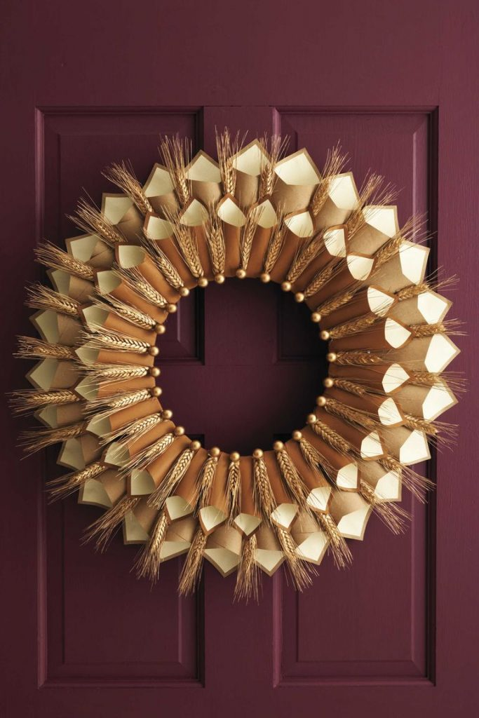 thanksgiving cone wreath via women's day on the happy list