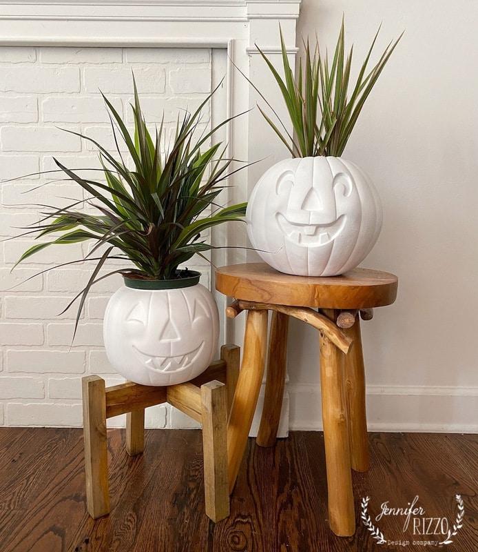 spray painted pumpkin planters jennifer rizzo on the happy list