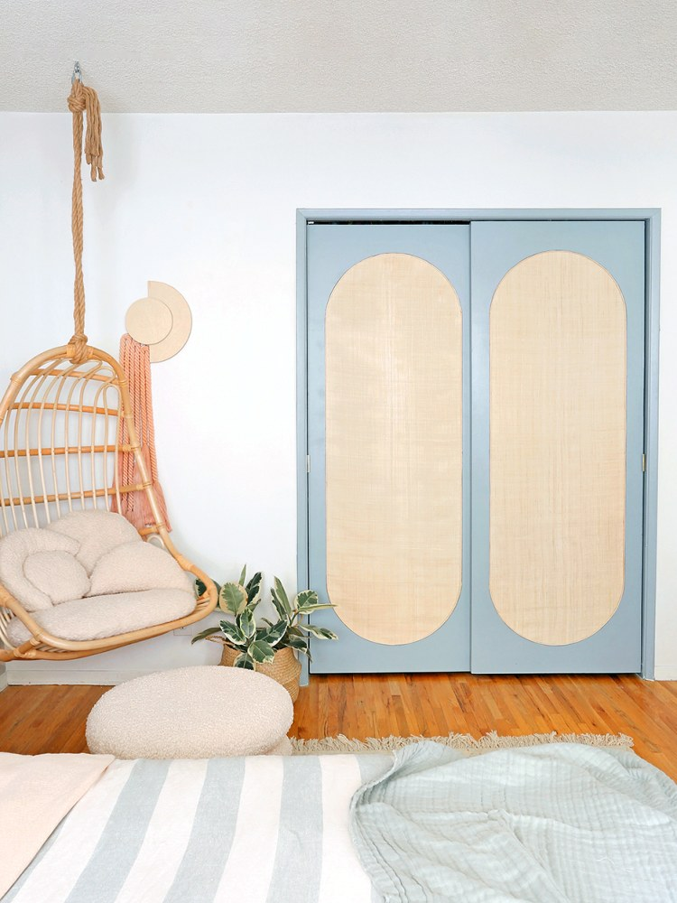 $45 closet door DIY via domino on the happy list