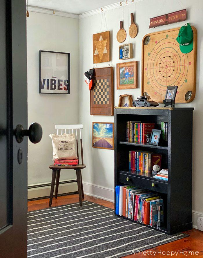 kids bedrooms vintage game gallery wall