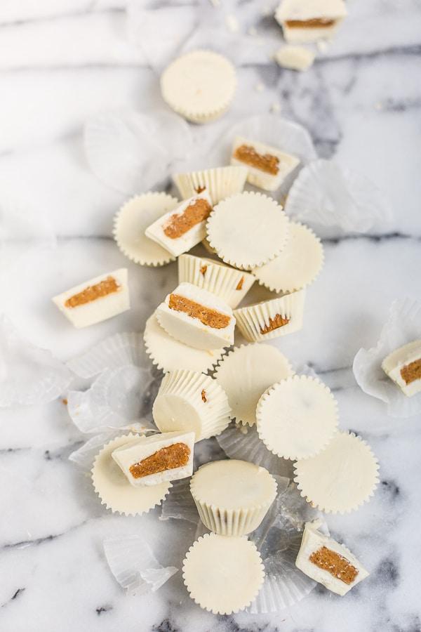white chocolate pumpkin pie candy recipe via Paper N Stitch Blog on the happy list