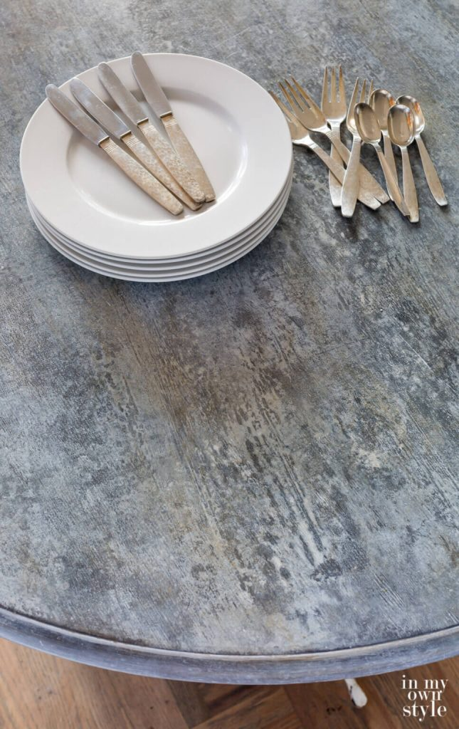 faux zinc paint treatment by in my own style on the happy list