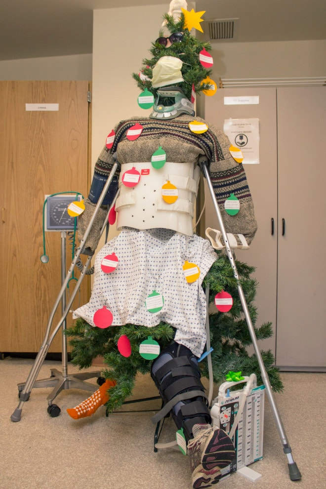 funny hospital tree decor via sad and useless on the happy list