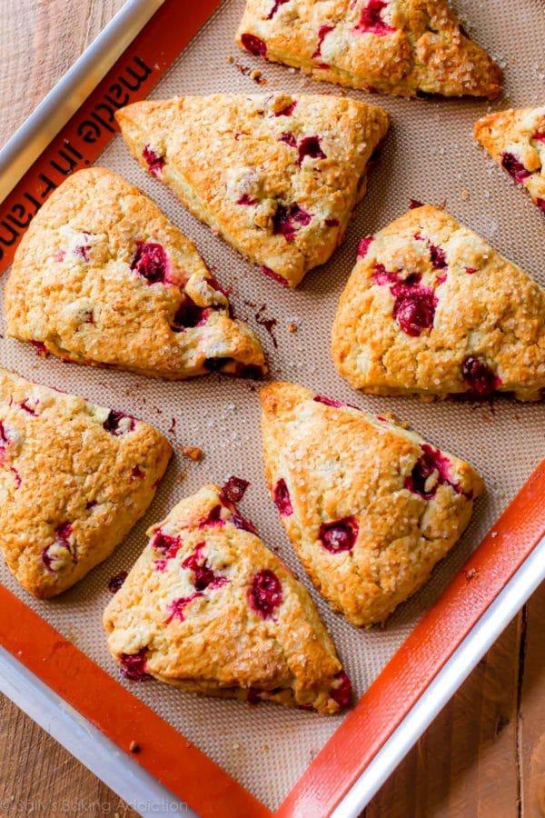 cranberry orange scones via sally's baking addiction on the happy list