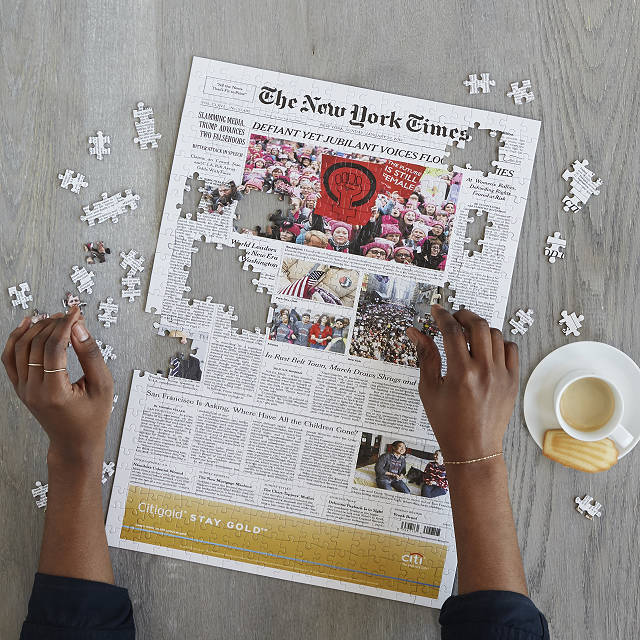 NY times customizable puzzle on the happy list