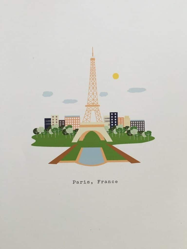PARIS PRINT FROM SELBY via Etsy