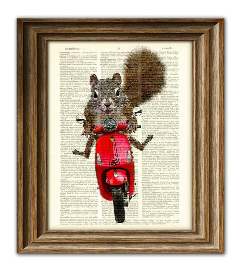 squirrel on dictionary page via etsy collageorama on the happy list