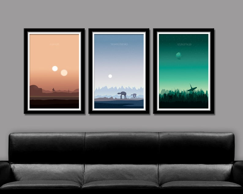 star wars inspired posters via etsy big time posters on the happy list