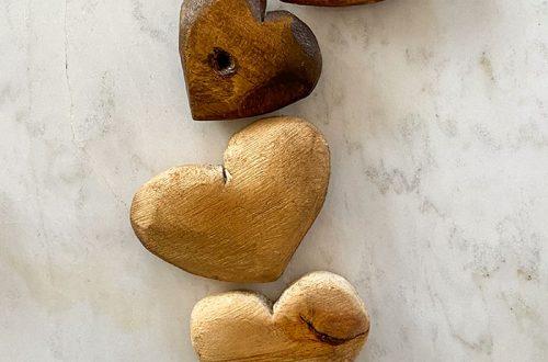 DIY rustic wood hearts