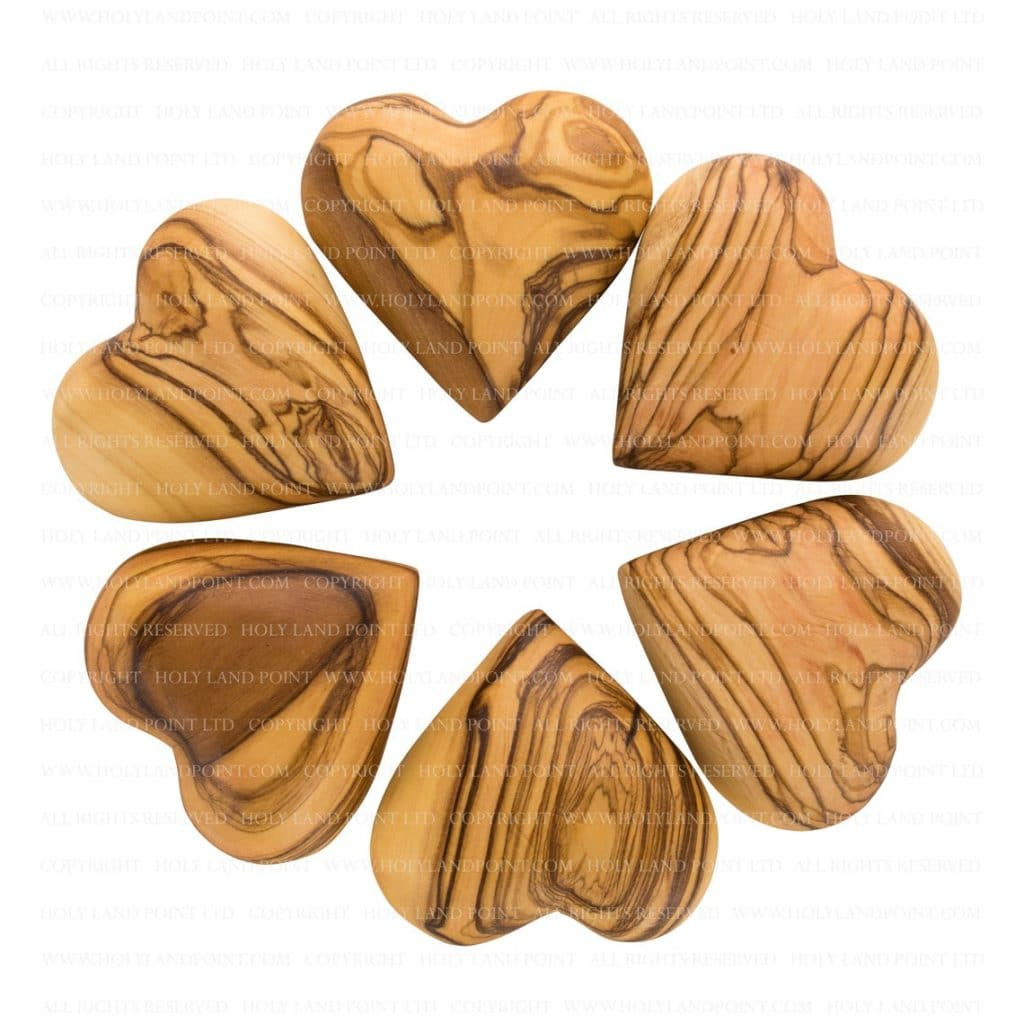 olive wood heart via etsy
