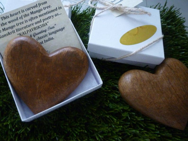 mango wood heart on etsy