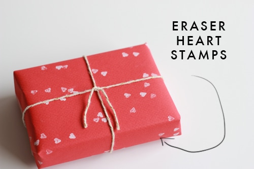 heart shaped eraser stamps via the house lars built on the happy list
