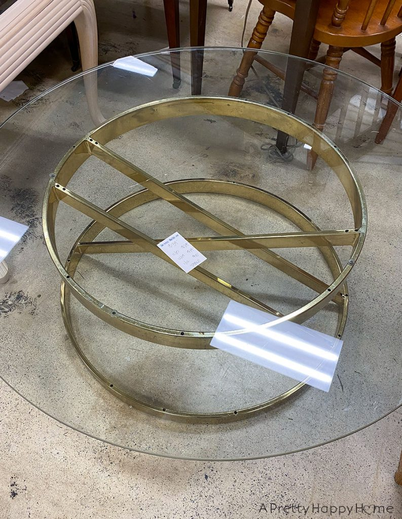 brass coffee table base coffee table mashup