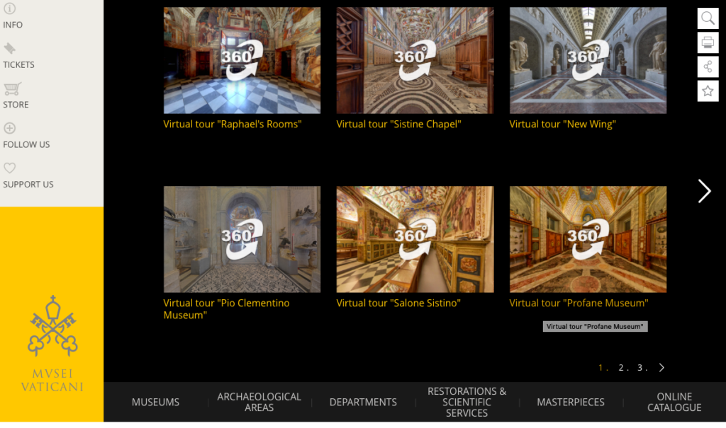 vatican virtual tours on the happy list