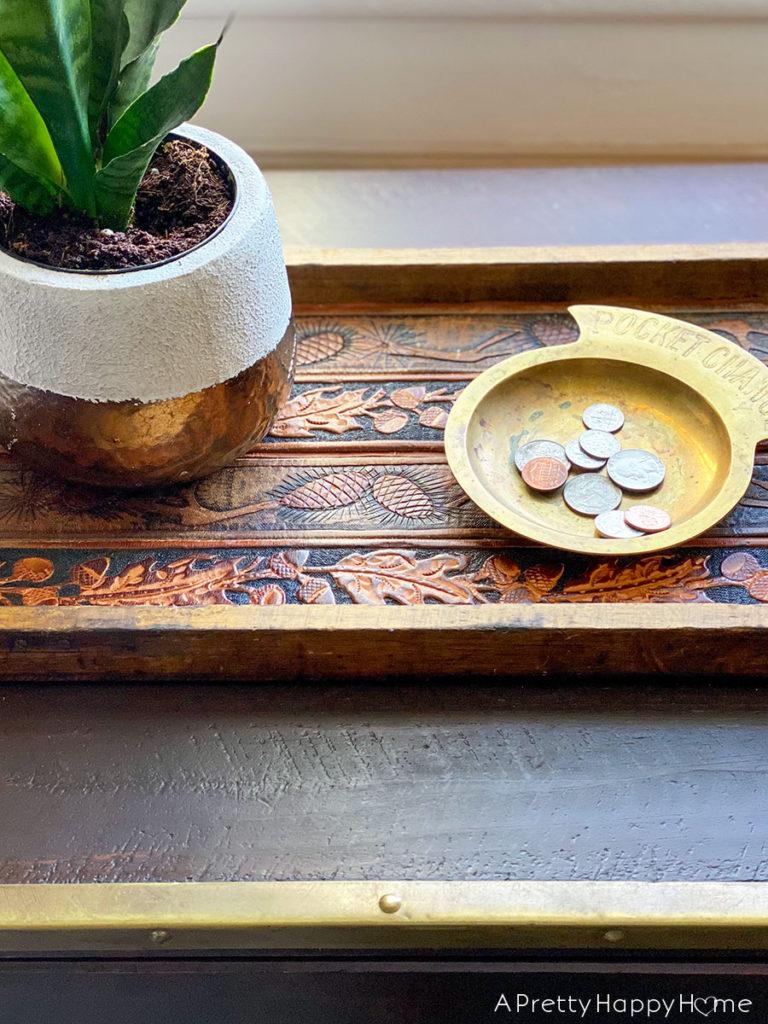 leather belt tray