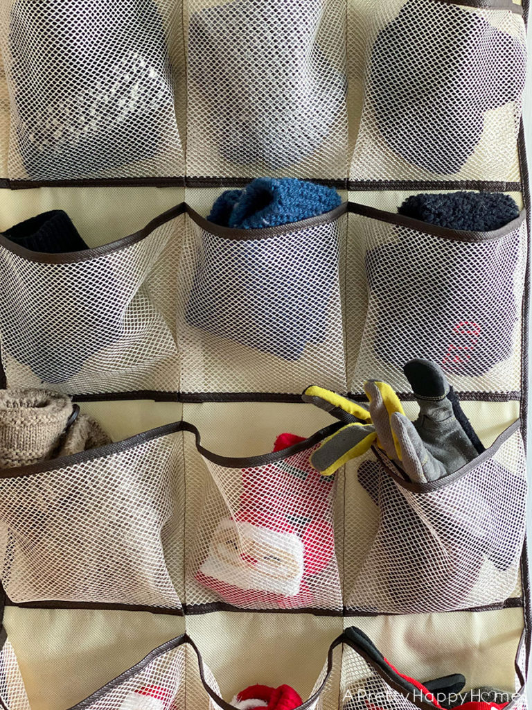hanging organizer for gloves and hats organization tricks