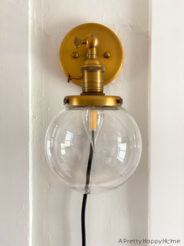 permo brass wall sconce via amazon