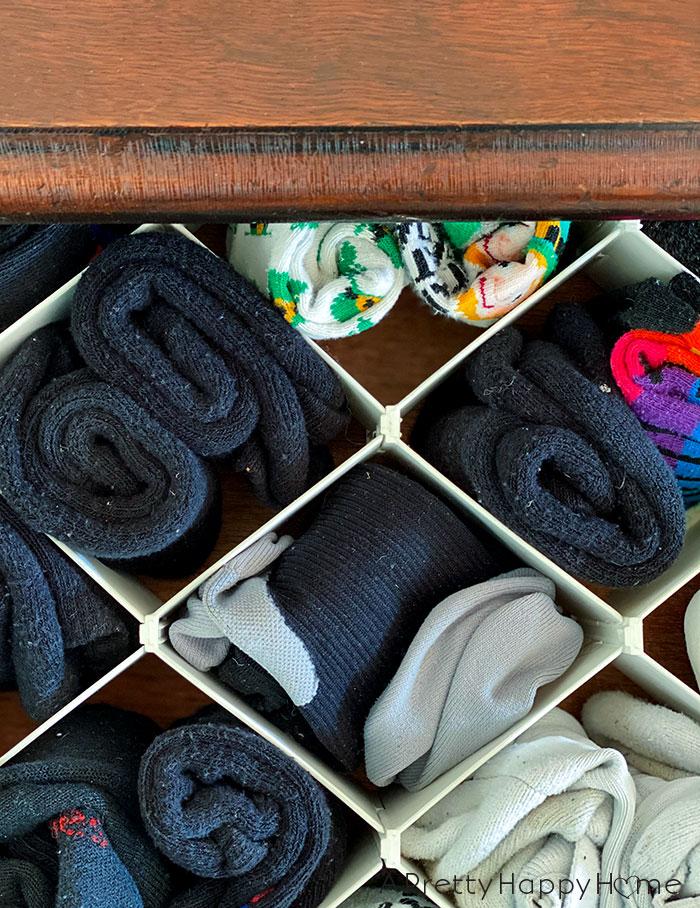 sock drawer organizer organization tricks