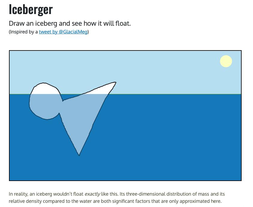 iceberg simulator on the happy list