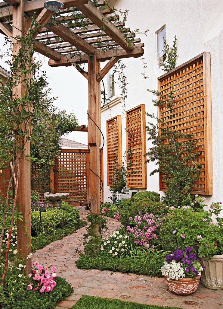 ED GOHLICH repeating trellis via BHG on the happy list