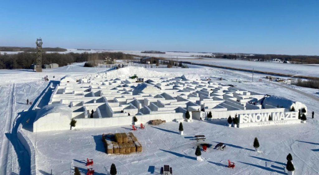 snow maze in canada