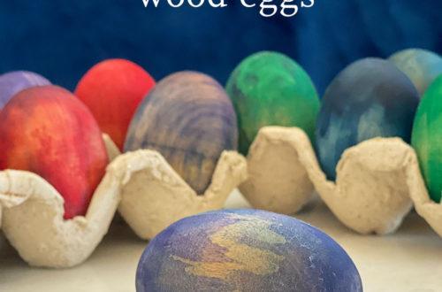watercolor wood eggs