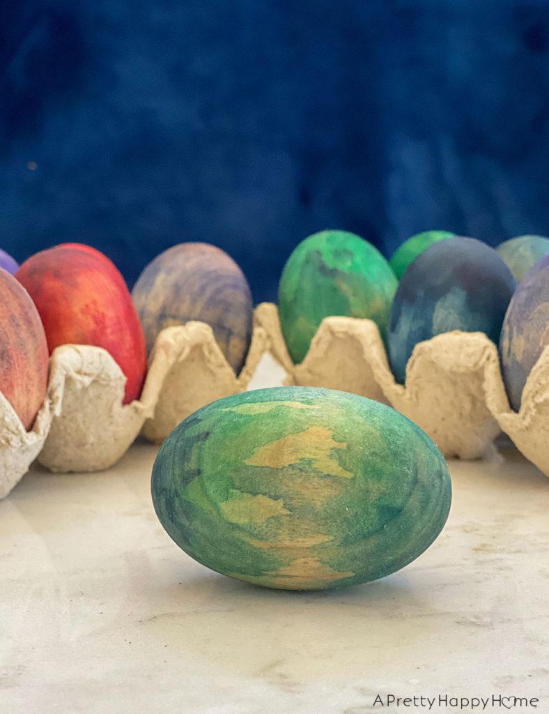 watercolor wood easter eggs