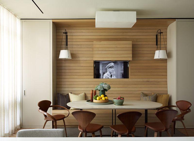 Dumais design firm hidden kitchen tv on the happy list
