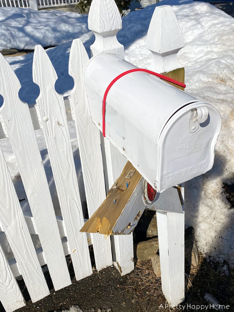2021 outdoor projects snowplow damaged mailbox