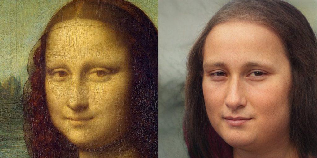 nathan shipley historical AI portrait mona lisa via my modern met on the happy list