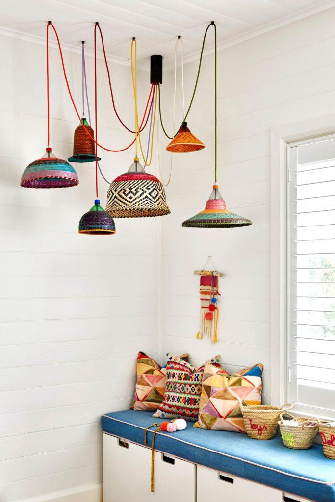 color lights byron bay home via homes to love australia on the happy list