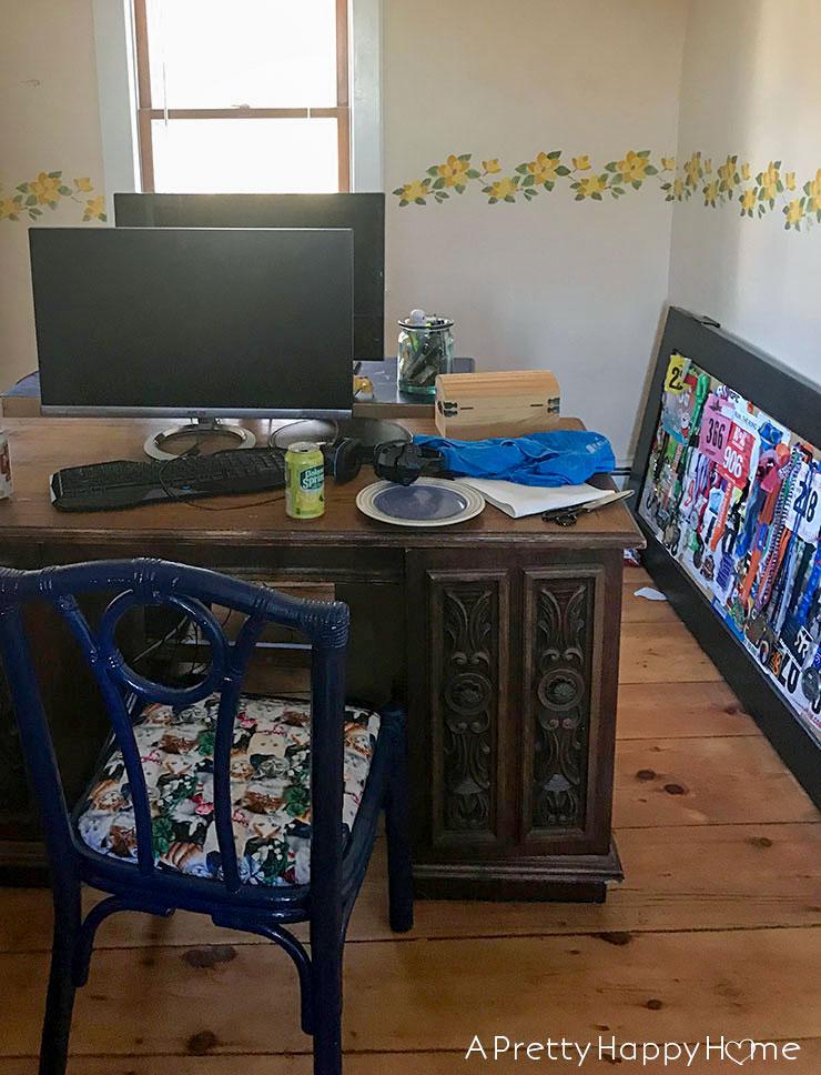 built in desk before